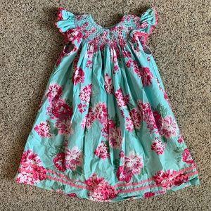 Smocked Auction floral dress